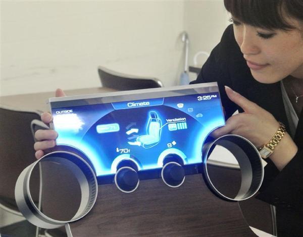 任天堂に供給される見込みの、形状を自由に設計できるシャープの新型液晶ディスプレー