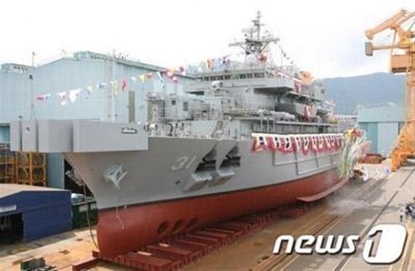 ソナーの代わりに魚群探知機を搭載されてた統営艦。複数の軍人と納入業者が汚職で逮捕された(韓国news1のHPより)