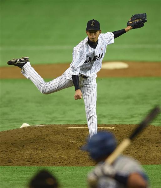 【野球日本代表対欧州代表】8回、登板する日本代表... 【野球日本代表対欧州代表】又吉克樹投手=