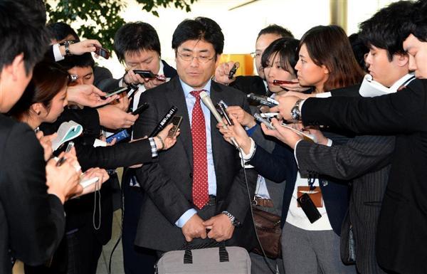 安倍晋三首相との面会を終え ...