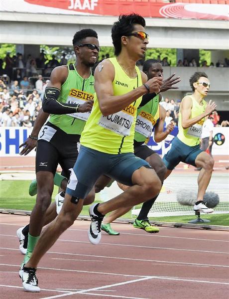 """男子200メートルを20秒33で優勝した藤光謙司... """"マルチスプリンター""""藤光謙司 好調の裏"""