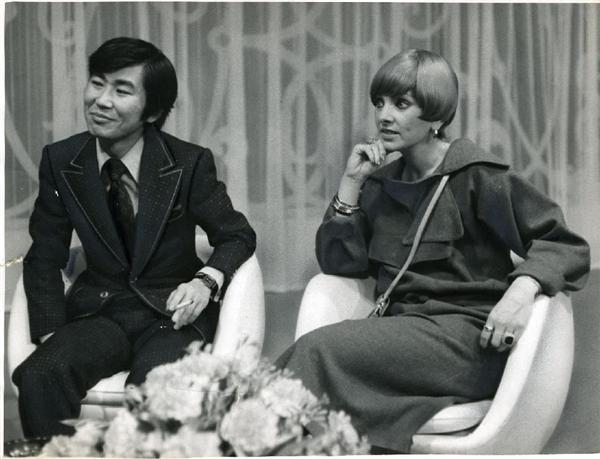 第3代パートナーのジョーン・シェパードさんと(昭和53年)