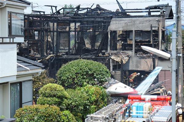 2015年7月26日(日)11Am 東京都調布市の民家に小型飛行機が墜落。