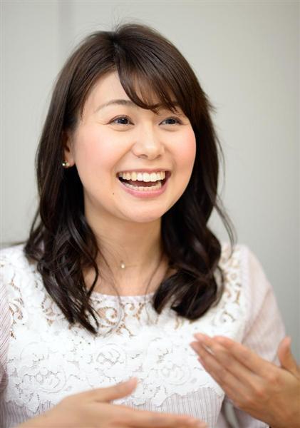 フジテレビの山中章子アナウンサー(川口良介撮影) フジテレビの山中章子アナ、結婚 「私のわがまま