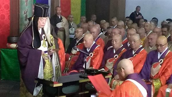 萬福寺で晋山式 62代堂頭、黄檗...