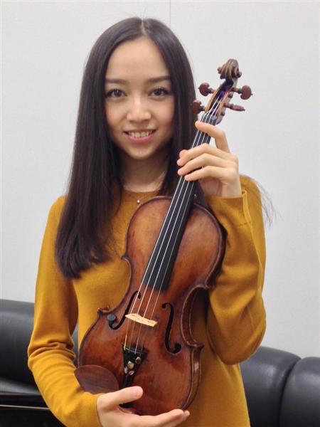 バイオリンを抱える宮本笑里
