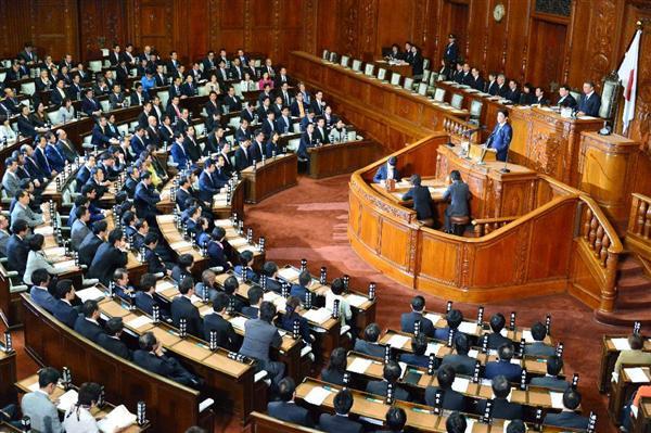 衆院本会議で、北朝鮮の核実験に対する抗議決議案が可決され、政府発言を行う... 前の写真へ 次の