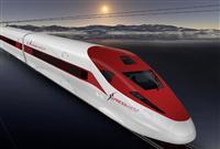 米西部にエクスプレスウエストが計画している高速鉄道のイメージ図(AP)。中国が世界各地で手がける高速鉄道計画は、頓挫や延期などに追い込まれるケースが相次いでいる