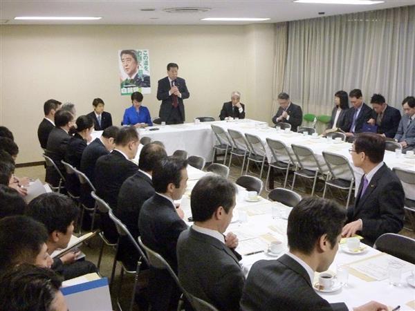 相模原の障害者施設殺傷事件を受けて開かれた自民党の部会=11月30日、東京・永田町の党本部