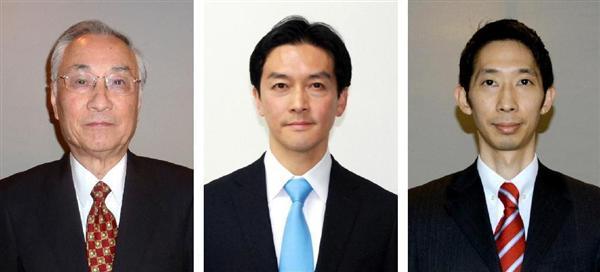 (左から)石川雅己氏、五十嵐朝青氏、与謝野信氏