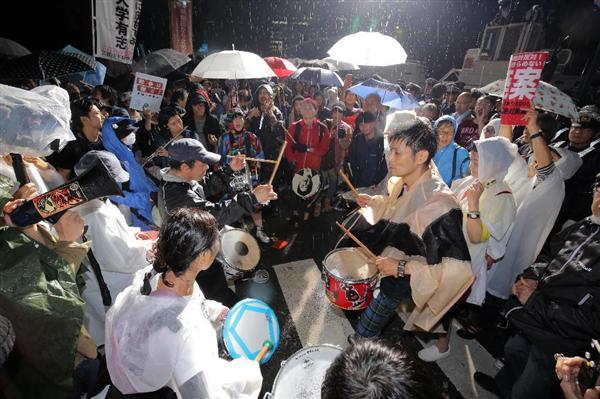 国会前の安保法案反対デモ=平成27年9月16日、国会前(早坂洋祐撮影)