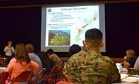 在沖縄米海兵隊が報道向けに公開した新任兵士に対する研修
