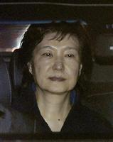 ソウル拘置所に向かう韓国の前大統領、朴槿恵容疑者=31日未明(聯合=共同)
