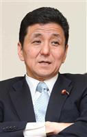 岸信夫外務副大臣(野村成次撮影)