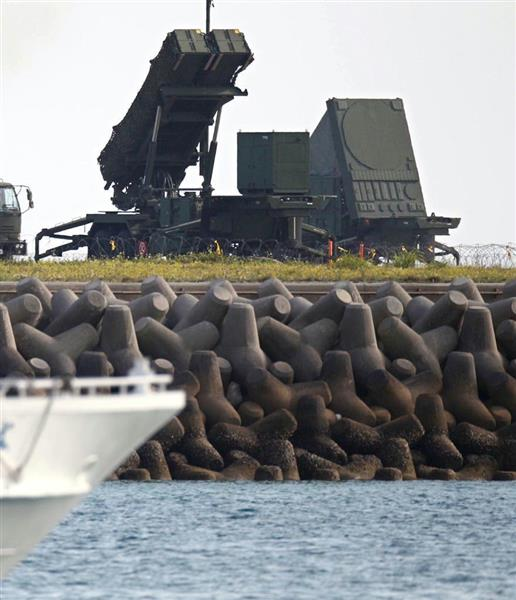 北朝鮮のミサイル発射に備えて、2012年4月に石垣島に設置されたPAC3(地対空誘導弾パトリオット)。翁長知事は県民を守れるのか