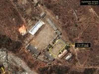 16日撮影された北朝鮮・豊渓里にある核実験場の衛星写真(デジタルグローブ/38ノース提供・ゲッティ=共同)