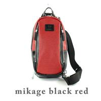 新色の「mikage black/red」