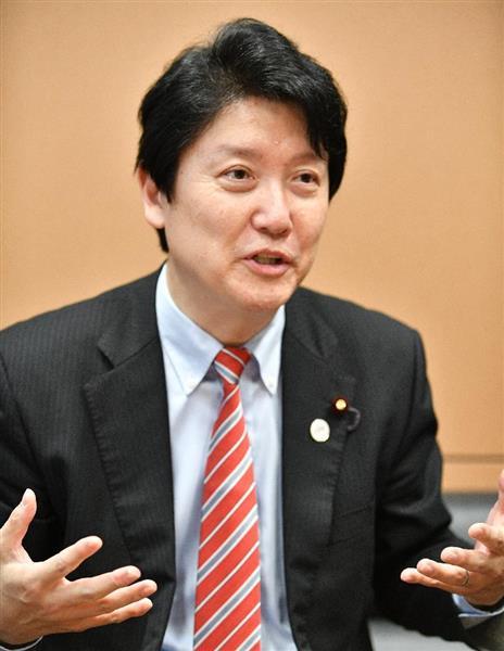 日本維新の会の足立康史衆院議員(斎藤良雄撮影)