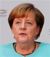 ドイツのメルケル首相=19日、ベルリン(ロイター)