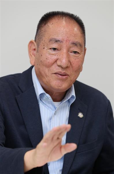 南西諸島安全保障研究所の奥茂治所長(飯田英男撮影)