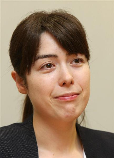 自民党の小野田紀美参院議員(菊本和人撮影)
