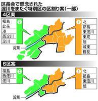 「淀川またぎ問題」が浮上、大阪都構想特別区の区割り案 身内から異論
