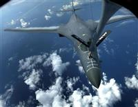8日、九州周辺の空域で航空自衛隊と共同訓練を行った米空軍のB1―B戦略爆撃機(ロイター)