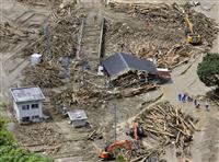 【九州北部豪雨】大量の流木、筑後市の仮置き場に集約 福岡県、30年度中に処理の方針