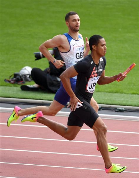 世界陸上】男子400メートルリレ...