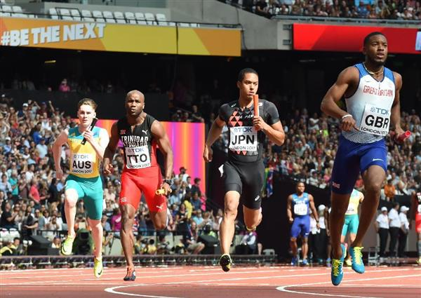 世界 陸上 男子 400 メートル リレー