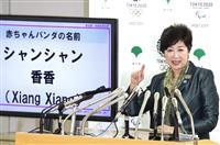 【上野パンダ】赤ちゃんの名前「シャンシャン」に決定 小池東京都知事が公表
