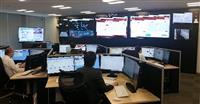 サイバー攻撃を監視する九州電力のサイバーセキュリティ対策室(一部画像を処理しています。九州電力提供)