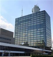 東京・渋谷のNHK放送センター(玉嵜栄次撮影)