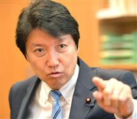 日本維新の会の足立康史氏(斎藤良雄撮影)