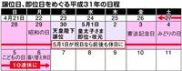 【天皇陛下譲位】5月1日即位でGW「10連休」 2019年、政府検討へ 「休日」と「祝…