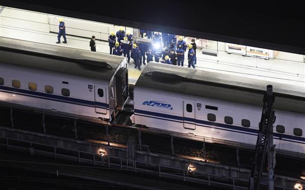 【新幹線台車亀裂】名古屋で停車の車両の一部移動 東京寄り14 ...