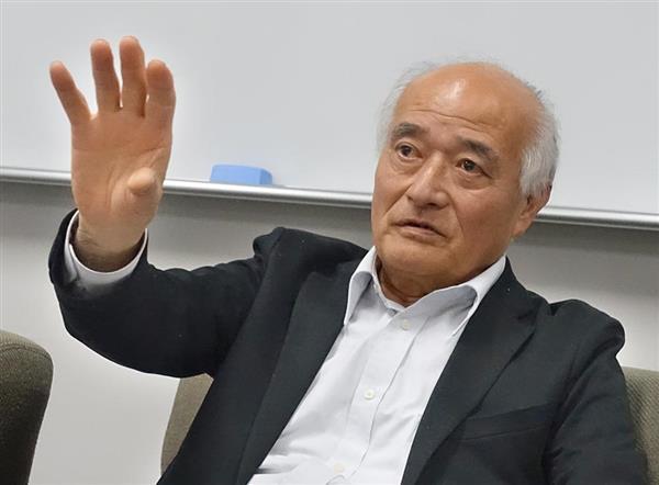 物流ガイドライン案について、ドローンタイムズの質問に答えるJUIDAの千田泰弘副理事長