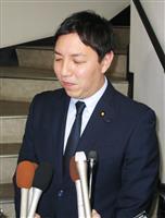 地元の福岡県久留米市で報道陣の取材に応じる自民党の鳩山二郎衆院議員=9日午後