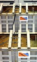 【阪神大震災23年・動画】ため池堤の耐震性に遮水シート有効 兵庫の施設で実験