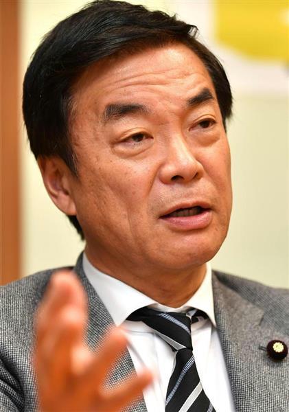 希望の党の松沢成文参院議員団代表(斎藤良雄撮影)