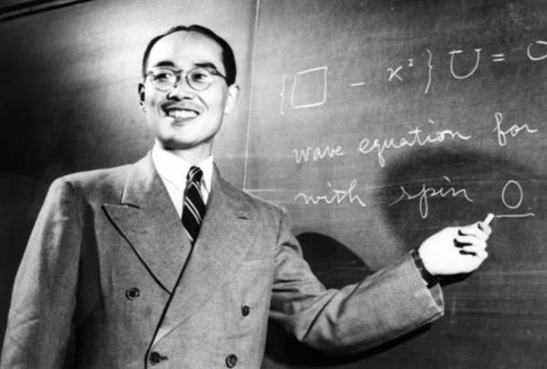1949年11月、米コロンビア大学で撮影に応じた湯川秀樹博士(湯川家提供)