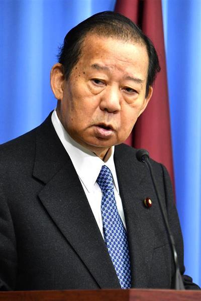 自民党の二階俊博幹事長(斎藤良雄撮影)