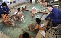 別府温泉で「熱海の湯」 復興支援で交流深まる