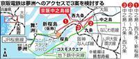 京阪、中之島線でIR、USJ客取り込む新たな延伸案検討へ