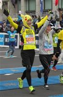 【東京マラソン】2人で完走、今日を結婚記念日に 沖田憲彦さん(43)と里佳さん(39)