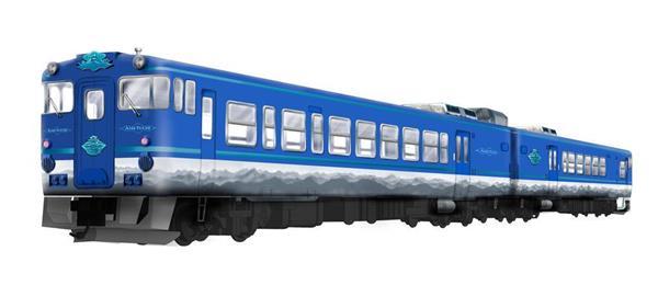 新観光列車「あめつち」の外観(JR西日本提供)