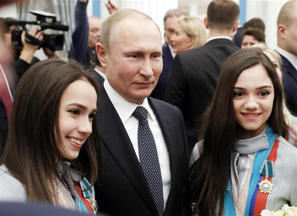 【平昌五輪】プーチン大統領がザギトワらにBMW 「車は両親が乗ります」 , 産経ニュース