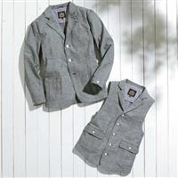 春のお出かけにさわやか素材のジャケット&ベスト