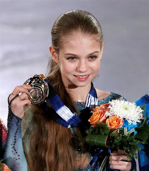 今季ジュニアGPファイナルで優勝したアレクサンドラ・トゥルソワ(ロイター)