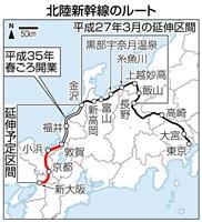 北陸新幹線、延伸から3年 堅調な観光需要がけん引
